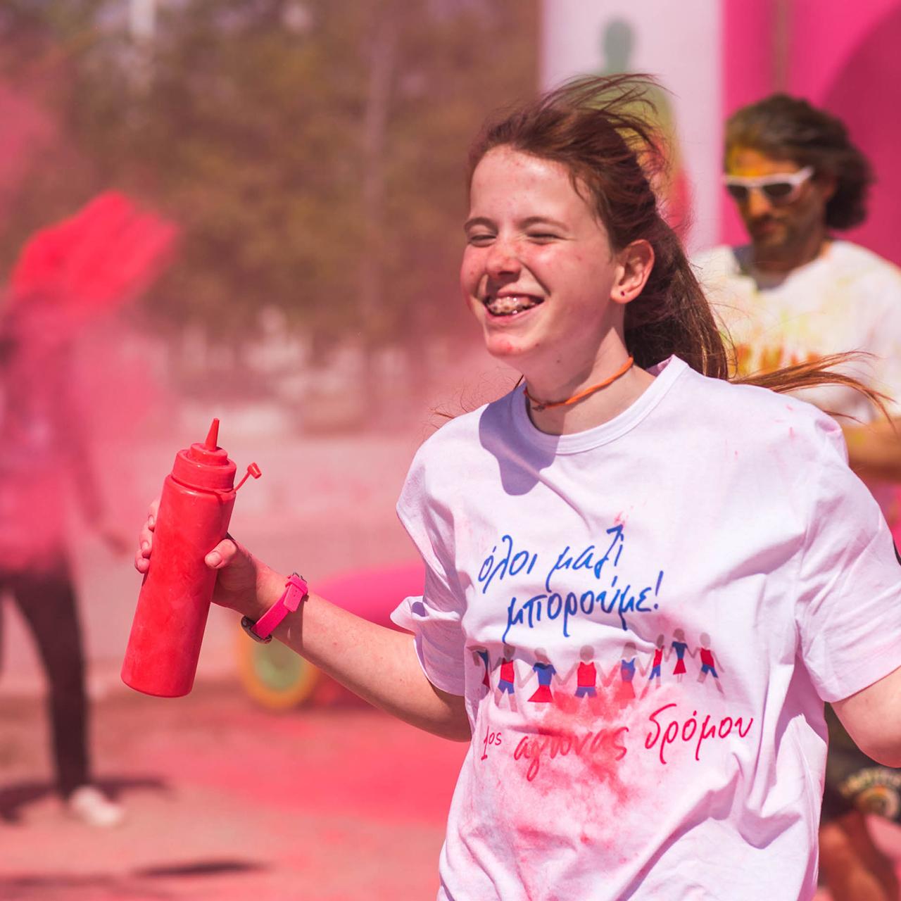 Το Colour Day Run στο Όλοι Μαζί Μπορούμε